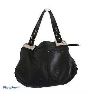 B Makowsky purse black genuine leather